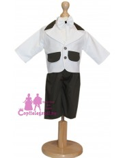 Costum botez alb-kaki