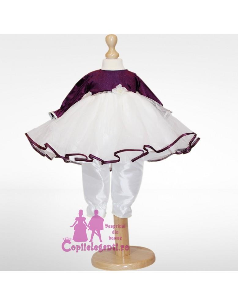 Compleu botez Purple Babydoll