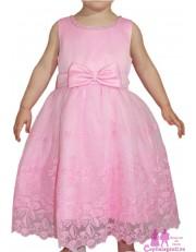 Rochita roz cu dantela