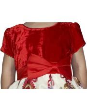 Rochita rosie din catifea