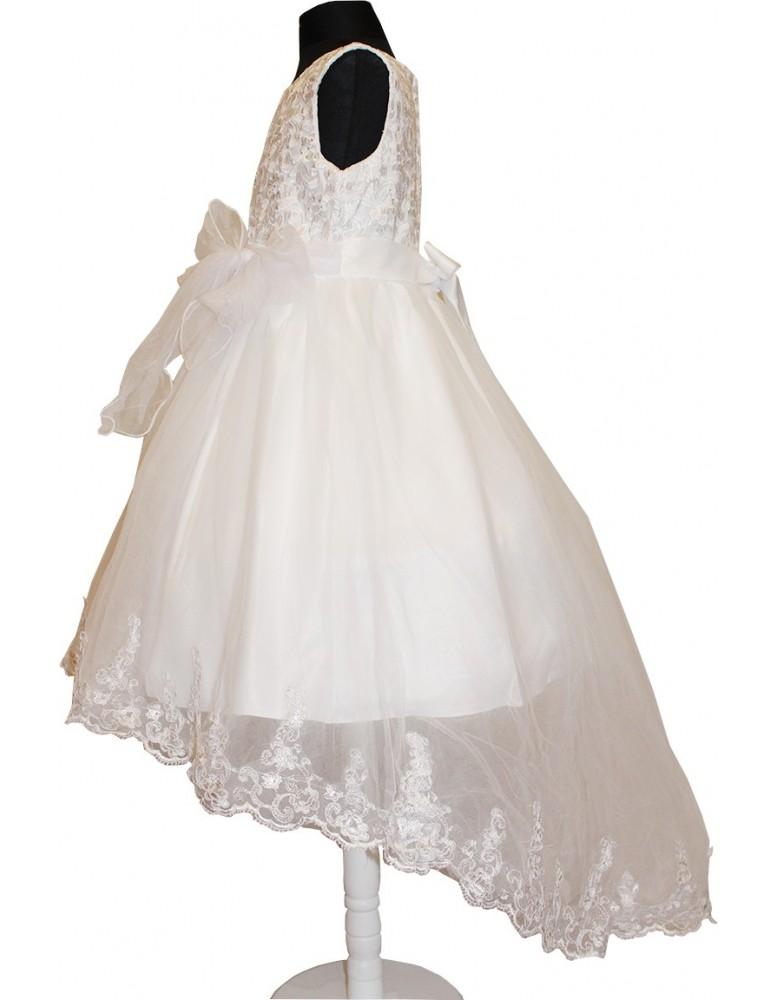Rochie alba cu trena White Princess
